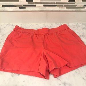 j crew pink / orange shorts